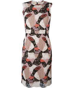 Emilio Pucci | Embroidered Lips Sheath Dress