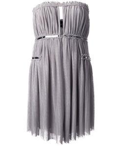 Jay Ahr | Платье Без Бретелей С Серебристой Отделкой