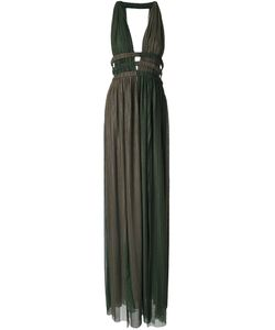 Jay Ahr | Длинное Платье C V-Образным Вырезом