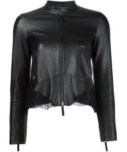 Roberto Cavalli | Кожаная Куртка С Кружевными Вставками
