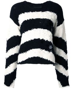 Jay Ahr | Полосатый Пуловер С Цветочной Аппликацией