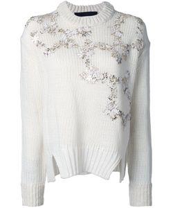 Jay Ahr | Пуловер С Золотистой Цветочной Аппликацией