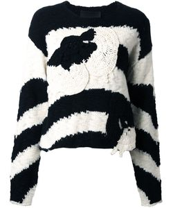 Jay Ahr | Полосатый Пуловер С Заплаткой В Форме Цветка