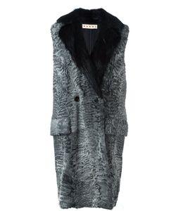 Marni | Меховое Пальто Без Рукавов