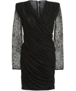Balmain | Приталенное Платье C V-Образным Вырезом