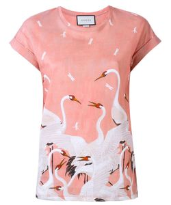 OUTSOURCE IMAGES | Swan Print T-Shirt