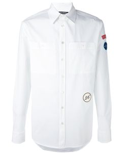 Raf Simons | Рубашка С Заплаткой На Рукаве