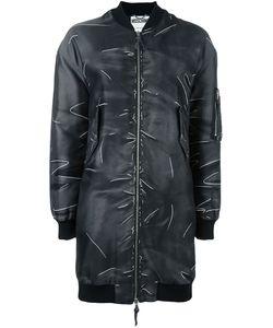 Moschino | Пальто-Бомбер С Эффектом Тромплей