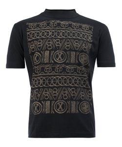 Christopher Nemeth | Patterned Funnel-Neck T-Shirt Medium Cotton