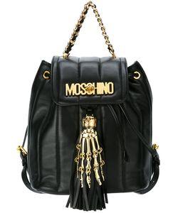 Moschino | Рюкзак С Логотипом И Рукой Скелета