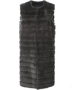 METEO BY YVES SALOMON   Sleeveless Fur Coat