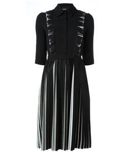 Marco Bologna | Плиссированное Платье С Длинными Рукавами
