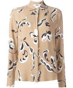 MSGM | Рубашка С Цветочным Принтом