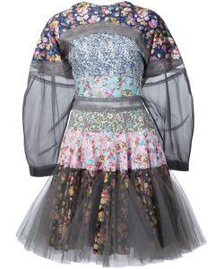 Natasha Zinko | Расклешенное Платье В Стиле Пэчворк