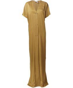 Lanvin | Платье Макси C V-Образным Вырезом