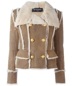 Balmain | Double Breasted Shearling Coat
