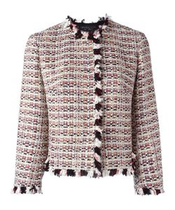 Giambattista Valli | Ruffle-Trim Tweed Jacket