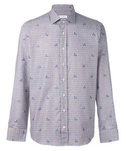 Etro | Клетчатая Рубашка С Цветочным Принтом