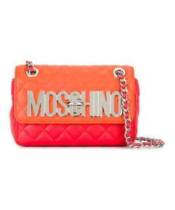 Moschino | Quilted Logo Plaque Shoulder Bag