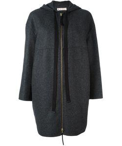 Marni | Пальто На Молнии С Капюшоном