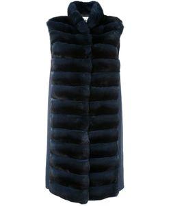 Manzoni 24   Меховое Пальто С Панельным Дизайном