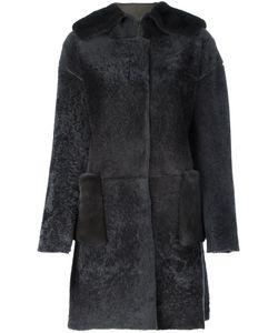 Manzoni 24 | Пальто Из Овчины С Меховой Отделкой