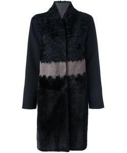 Manzoni 24 | Меховое Пальто В Полоску