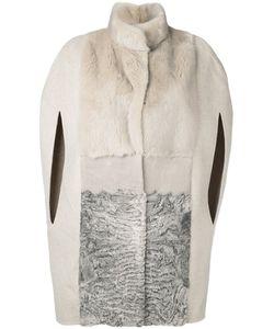 Manzoni 24 | Меховое Пальто С Прорезными Рукавами