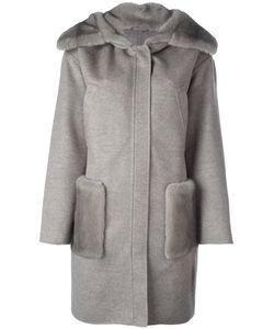 Manzoni 24   Пальто С Меховой Отделкой