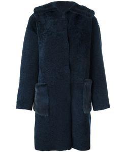 Manzoni 24   Пальто Из Овчины С Меховой Отделкой