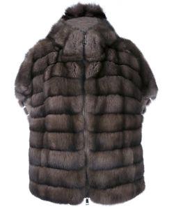 Manzoni 24   Меховое Пальто С Короткими Рукавами