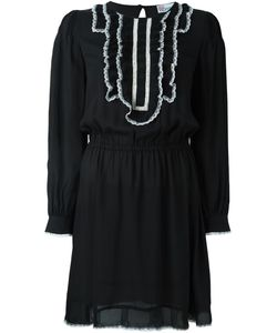 Red Valentino | Contrast Ruffled Collar Dress