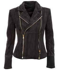 Balmain | Ribbed Accent Biker Jacket