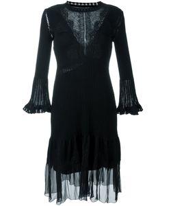 Alberta Ferretti | Расклешенное Платье С Кружевной Вставкой