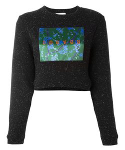 Carven | Patch Flocked Cropped Pullover