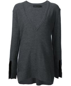 Calvin Klein Collection | Longsleeved V-Neck Knitted Blouse
