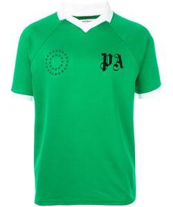 PALM ANGELS   Logo Print Collar T-Shirt