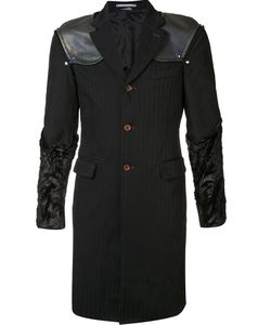 COMME DES GARCONS HOMME PLUS | Полосатое Пальто С Подчеркнутыми Плечами