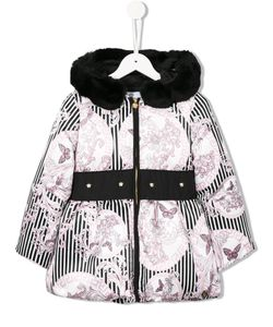 Young Versace | Butterfly Stripe Print Coat 10 Yrs