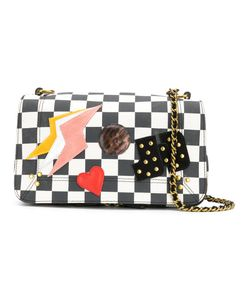 Jerome Dreyfuss | Checkerboard Bag With Patchwork Appliqué