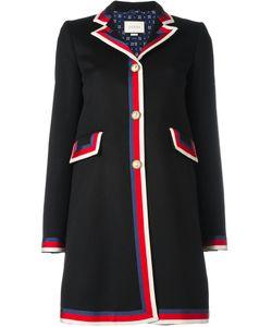 Gucci   Sylvie Web Trim Coat 42 Wool/Silk/Viscose/Cotton