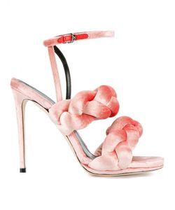 Marco De Vincenzo | Braided Sandals 36.5 Velvet/Leather