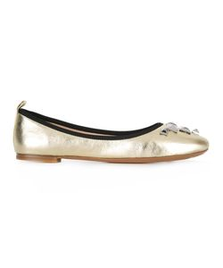 Marc Jacobs | Cleo Studded Ballerina Flats 41 Leather