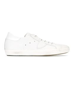 Philippe Model | Lace-Up Sneakers 44 Leather/Cotton/Rubber