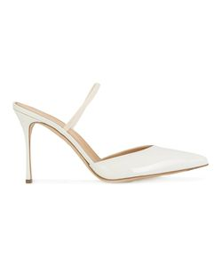 Sergio Rossi | Pointed Toe Pumps 38 Leather/Patent Leather