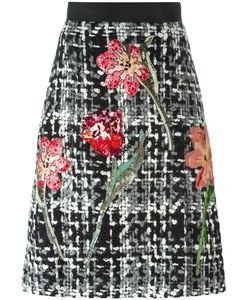 Dolce & Gabbana | Юбка-Букле С Цветочным Мотивом