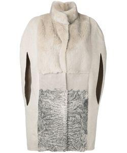 Manzoni 24 | Cape Sleeve Fur Coat
