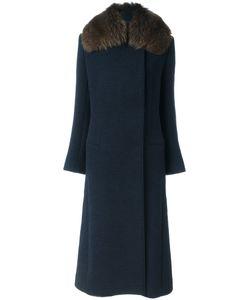 Lanvin | Пальто С Меховой Отделкой