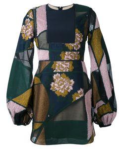 ROKSANDA | Лоскутное Платье С Объемными Рукавами
