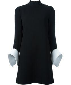 Victoria, Victoria Beckham | Платье Шифт С Контрастными Рукавами